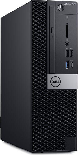 Компьютер  DELL Optiplex 7070,  Intel  Core i7  9700,  DDR4 8Гб, 1000Гб,  256Гб(SSD),  AMD Radeon RX 550 - 4096 Мб,  DVD-RW,  CR,  Windows 10 Professional,  черный и серебристый [7070-6770]