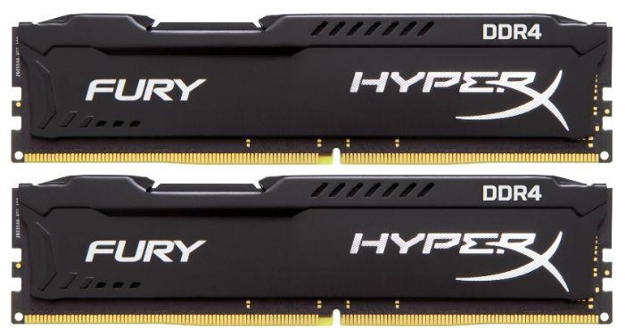 Модуль памяти KINGSTON HyperX FURY Black HX426C16FB3K2/16 DDR4 -  2x 8Гб 2666, DIMM,  Ret