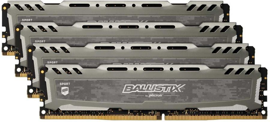 Модуль памяти CRUCIAL Ballistix Sport LT BLS4K4G4D26BFSB DDR4 -  4x 4Гб 2666, DIMM,  Ret