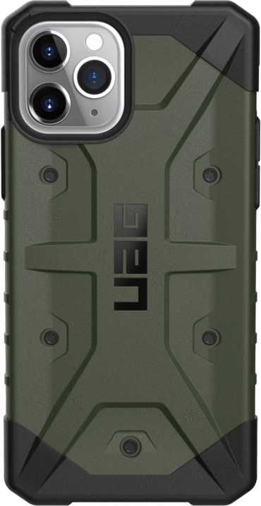Чехол (клип-кейс) UAG Pathfinder, для Apple iPhone 11 Pro, оливковый/черный [111707117272]