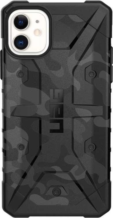 Чехол (клип-кейс) UAG Pathfinder, для Apple iPhone 11, черный/камуфляж [111717114061]
