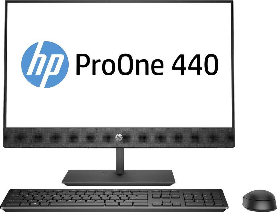 """Моноблок HP ProOne 440 G5, 23.8"""", Intel Core i7 9700T, 8Гб, 1000Гб, Intel UHD Graphics 630, DVD-RW, Free DOS, черный [7em68ea]"""