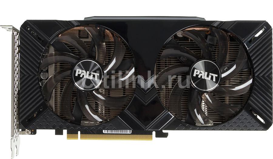 Видеокарта PALIT nVidia  GeForce RTX 2070 ,  PA-RTX2070 DUAL 8G,  8Гб, GDDR6, Ret [ne62070018p2-1160a]