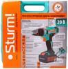 Дрель-шуруповерт STURM! CD3220L,  2Ач,  с двумя аккумуляторами вид 8