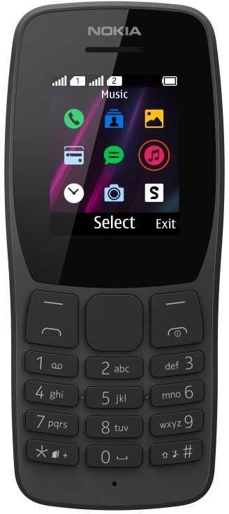Мобильный телефон NOKIA 110 DS TA-1192,  черный