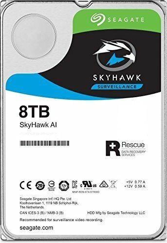 """Жесткий диск SEAGATE SkyHawkAI ST8000VE000,  8Тб,  HDD,  SATA III,  3.5"""""""
