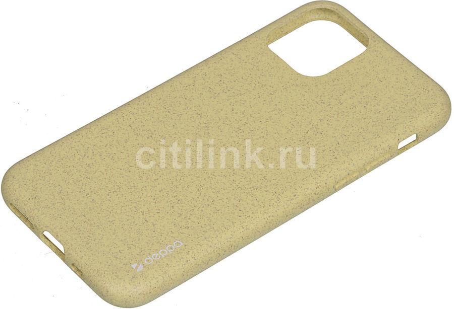 Чехол (клип-кейс) DEPPA Eco Case, для Apple iPhone 11 Pro, желтый [87273]