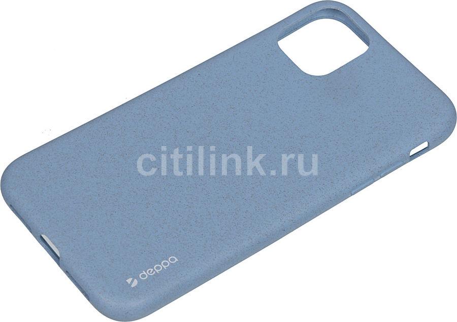 Чехол (клип-кейс) DEPPA Eco Case, для Apple iPhone 11, голубой [87282]
