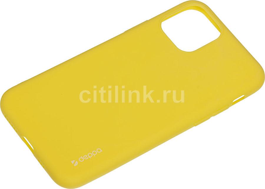 Чехол (клип-кейс) DEPPA Gel Color Case, для Apple iPhone 11 Pro, желтый [87239]