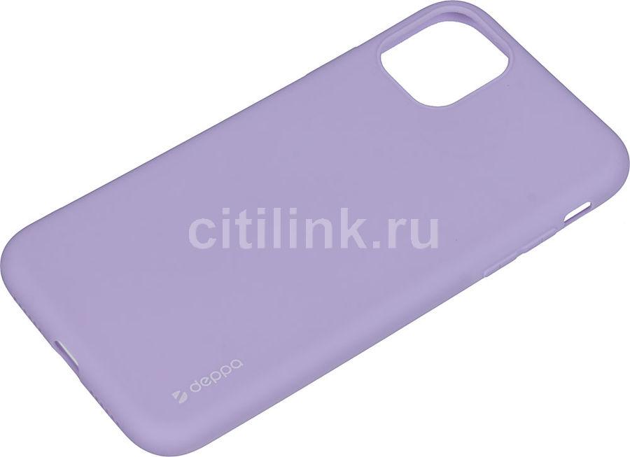Чехол (клип-кейс) DEPPA Gel Color Case, для Apple iPhone 11, лаванда [87244]