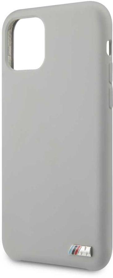Чехол (клип-кейс)  BMW Silicon case, для Apple iPhone 11, серый [bmhcn61msilgr]