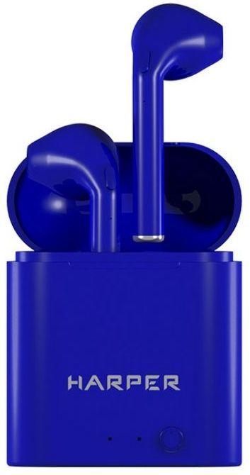 Наушники с микрофоном HARPER HB-508, Bluetooth, вкладыши, синий [h00002580]