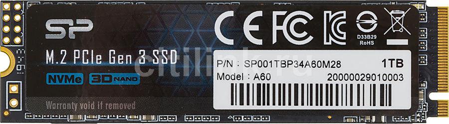 SSD накопитель SILICON POWER M-Series SP001TBP34A60M28 1Тб, M.2 2280, PCI-E x4,  NVMe
