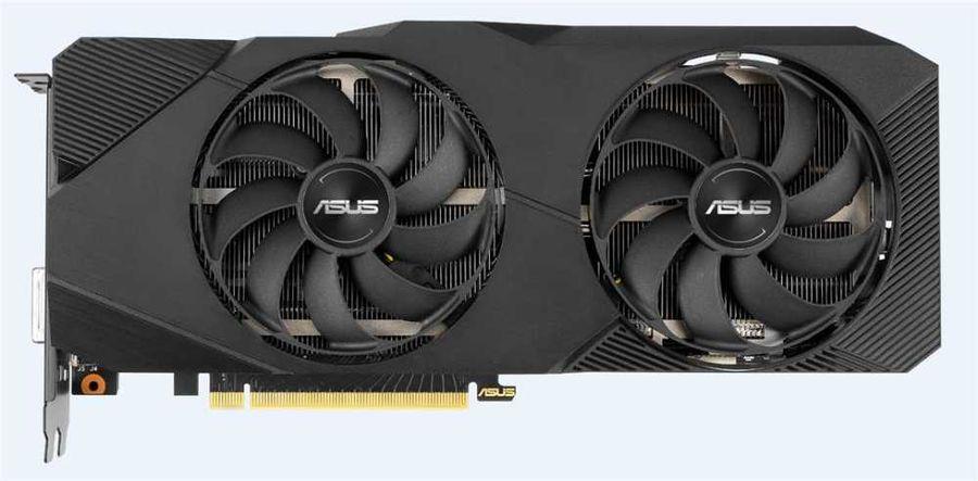 Видеокарта ASUS nVidia  GeForce RTX 2070 ,  DUAL-RTX2070-O8G-EVO,  8Гб, GDDR6, OC,  Ret