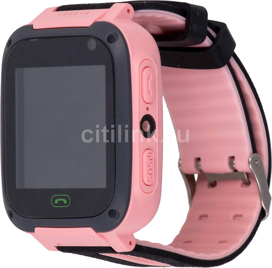 """Смарт-часы CANYON CNE-KW21RR,  1.44"""",  черный/розовый / черный/розовый"""