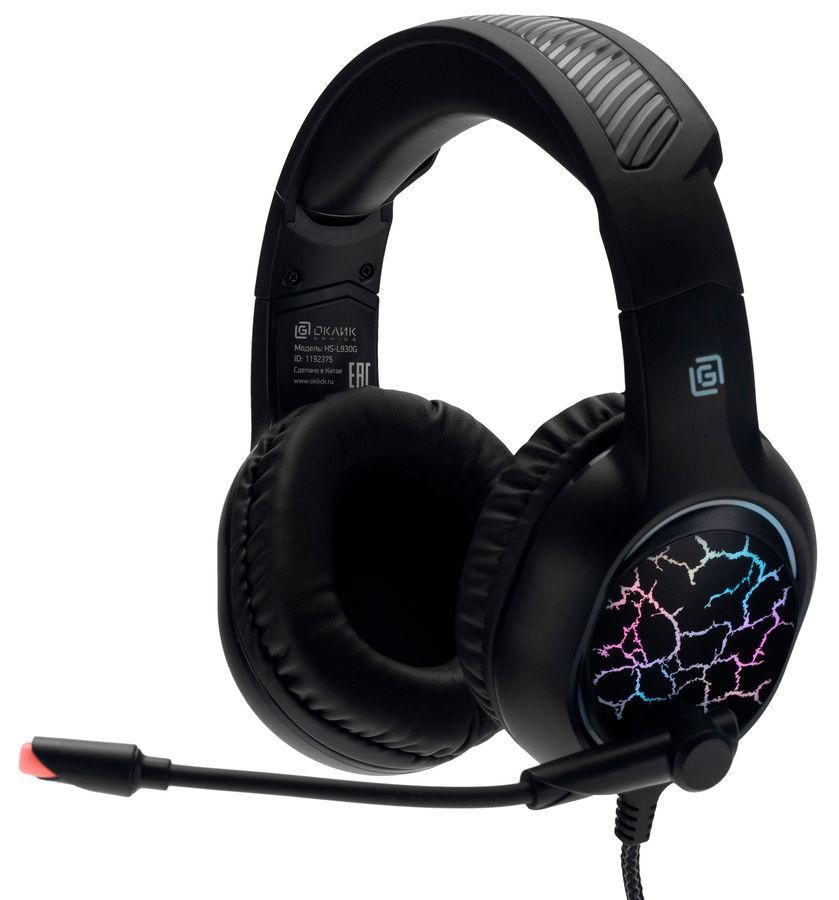 Гарнитура OKLICK HS-L930G SNORTER,  черный  / синий