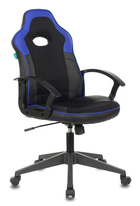 Кресло игровое БЮРОКРАТ VIKING-11, синий/черный