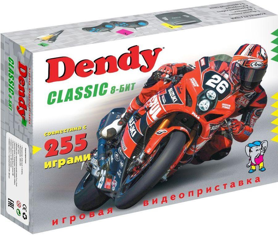 Игровая консоль DENDY 255 игр,  Classic 8bit, черный