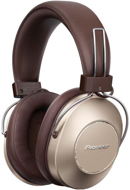Наушники с микрофоном PIONEER SE-MS9BN-G, 3.5 мм/Bluetooth, мониторные, золотистый