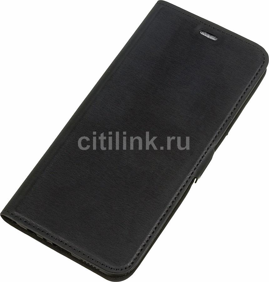 Чехол (флип-кейс) DF rmFlip-03, для Realme 5 Pro, черный [df rmflip-03 (black)]