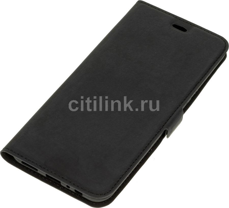 Чехол (флип-кейс) DF rmFlip-01, для Realme XT, черный [df rmflip-01 (black)]