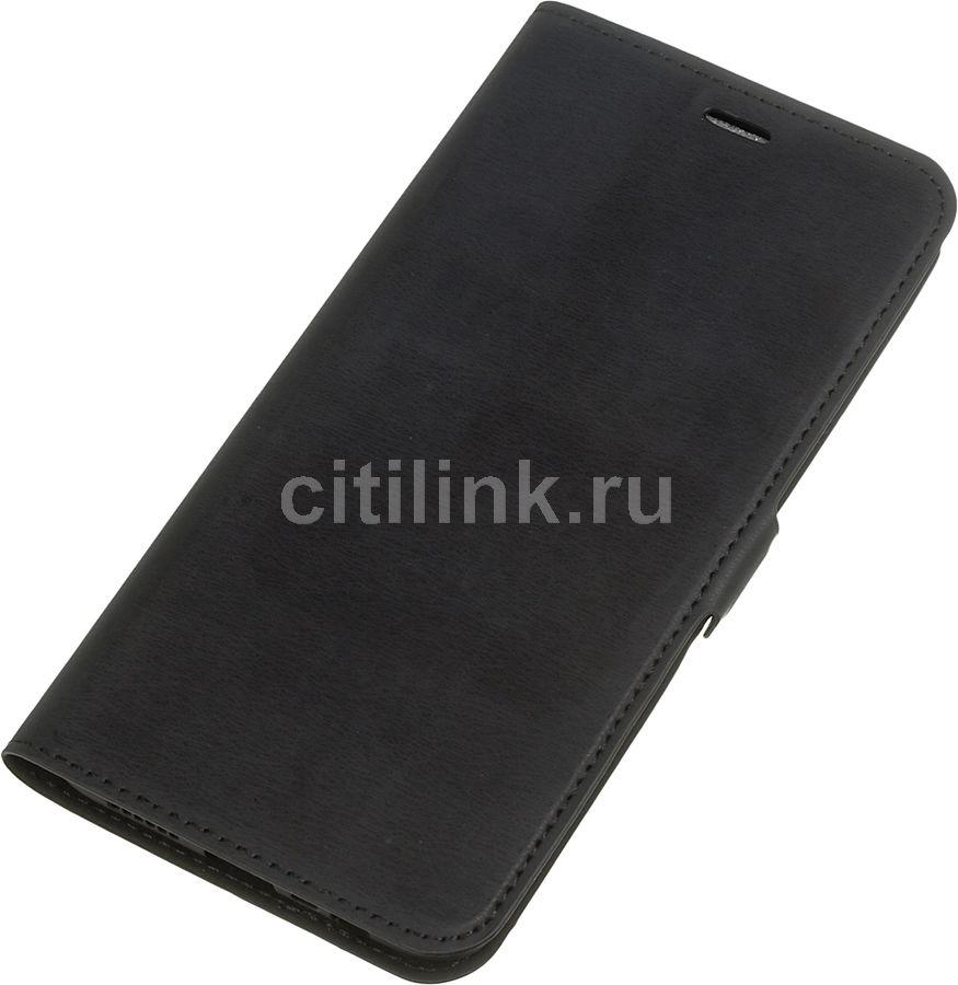 Чехол (флип-кейс) DF oFlip-02, для Oppo A5s, черный [df oflip-02 (black)]