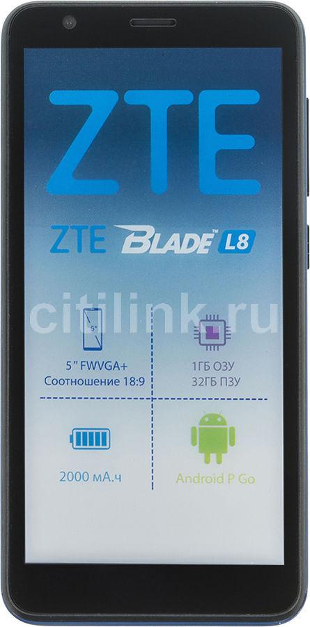Синий синий ZTE под ёлку - Обзор товара смартфон ZTE Blade L8 32Gb, синий (1193984) в интернет-магазине СИТИЛИНК - Москва