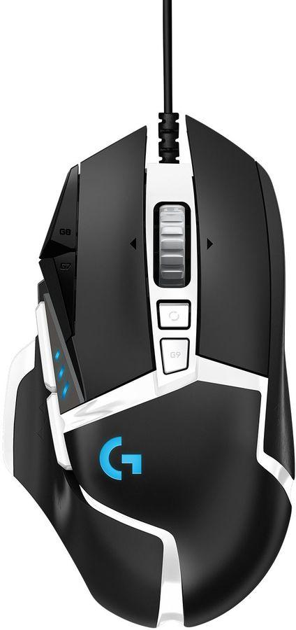 Мышь LOGITECH G502 SE HERO, игровая, лазерная, проводная, USB, черный и белый [910-005729]