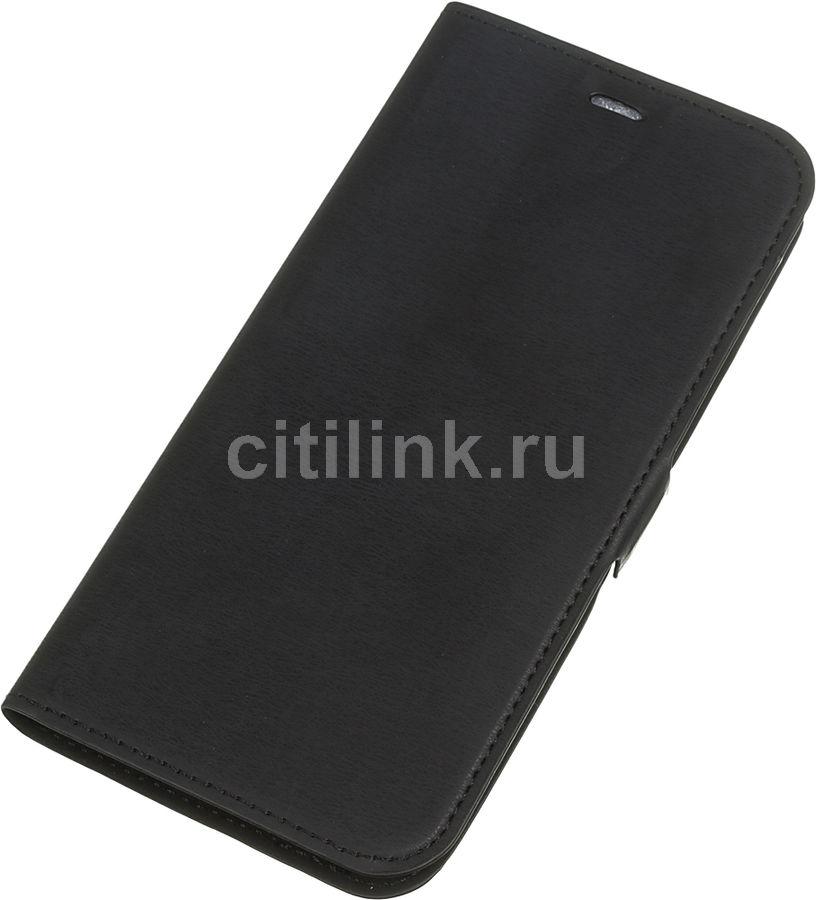 Чехол (флип-кейс) DF vFlip-01, для Vivo Y12/Y17/Y11 (2019), черный [df vflip-01 (black)]