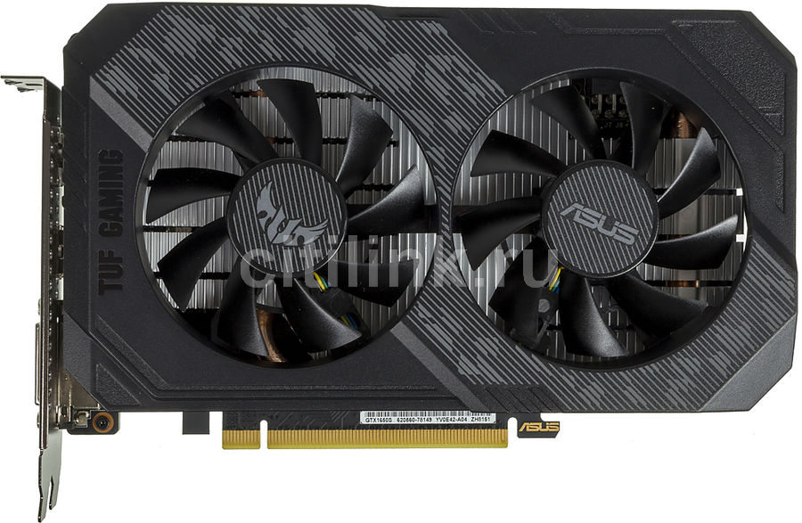 Видеокарта ASUS nVidia  GeForce GTX 1650SUPER ,  TUF-GTX1650S-O4G-GAMING,  4Гб, GDDR6, OC,  Ret