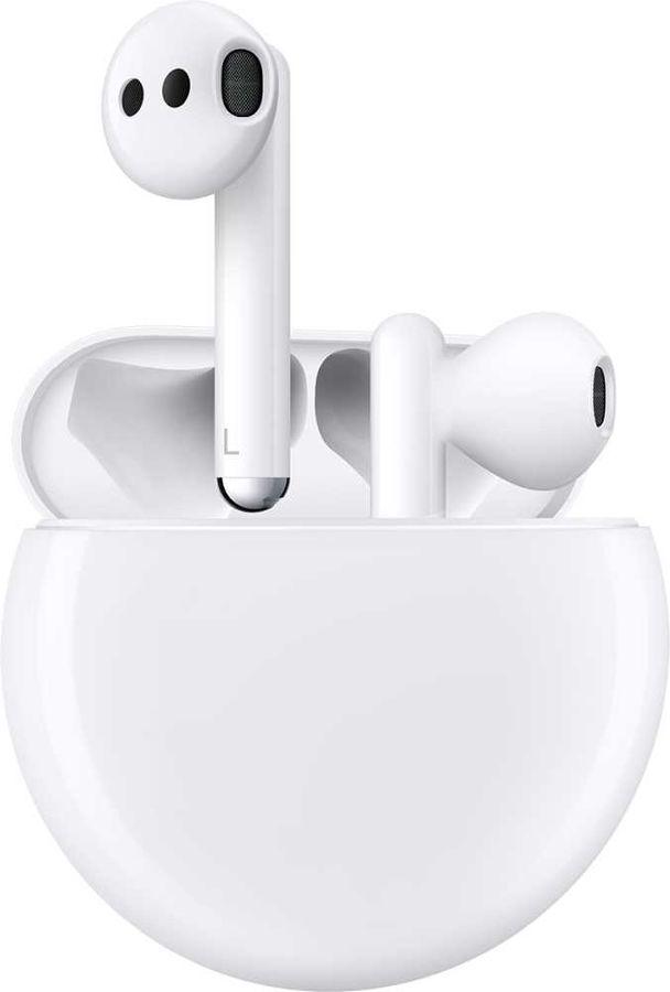 Наушники с микрофоном HUAWEI Freebuds 3 CM-SHK00, Bluetooth, вкладыши, белый [55032126]