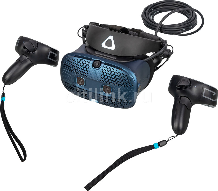 Очки виртуальной реальности HTC Vive Cosmos,  черный/синий [99harl027-00]