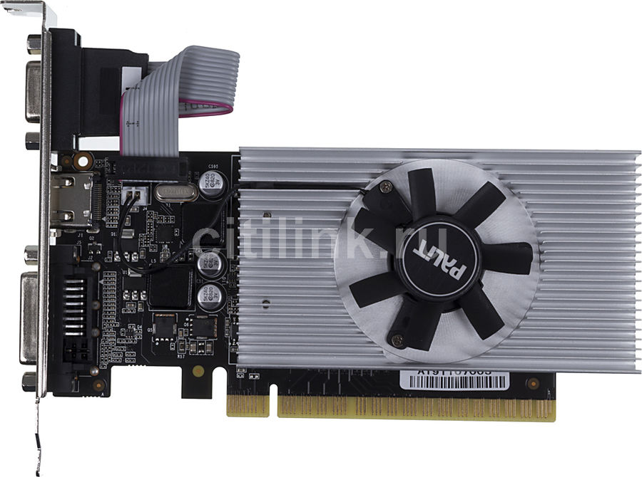 Видеокарта PALIT nVidia  GeForce GT 730 ,  PA-GT730-2GD5,  2Гб, DDR5, Ret [ne5t7300hd46-2087f]