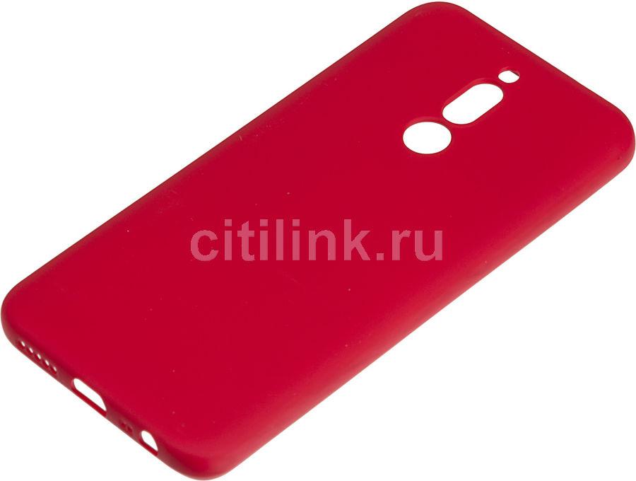 Чехол (клип-кейс) BORASCO Soft Touch, для Xiaomi Redmi 8, красный [37993]