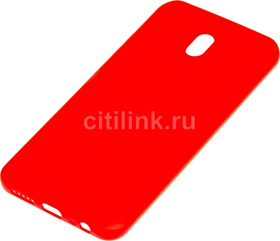 Чехол (клип-кейс) BORASCO Soft Touch, для Xiaomi Redmi 8A, красный [37996]
