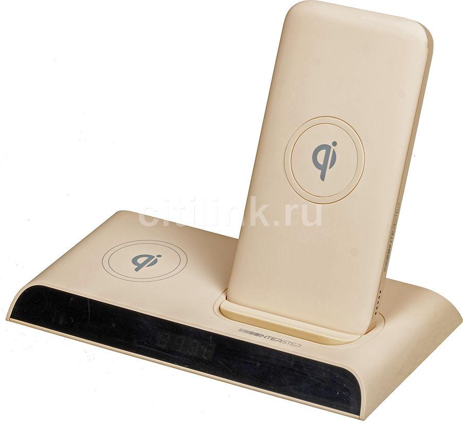 Внешний аккумулятор (Power Bank) INTERSTEP PB10DQi Pro,  10000мAч,  персиковый [70747]