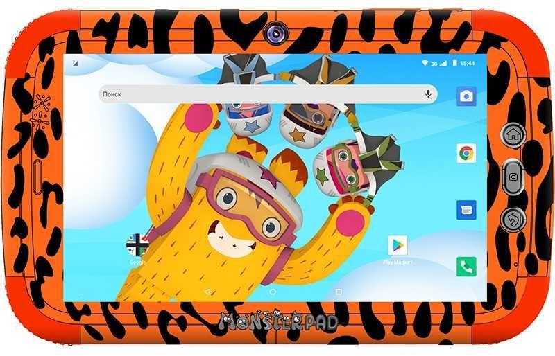 Детский планшет TURBO TurboKids Monsterpad 2 16Gb,  Wi-Fi,  3G,  Android 8.1,  оранжевый [pt00020520]