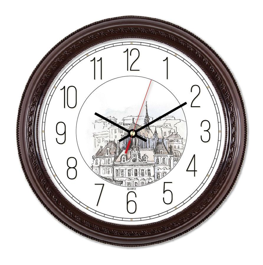 Настенные часы БЮРОКРАТ WallC-R63P,  коричневый