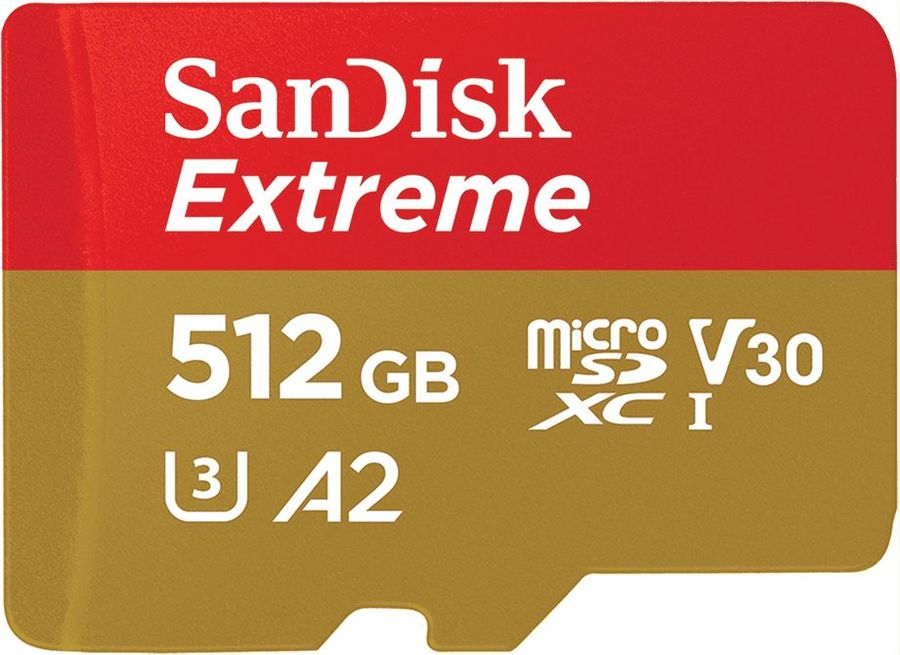Карта памяти microSD UHS-I U3 SANDISK Extreme 512 ГБ