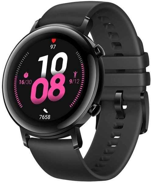 """Смарт-часы HUAWEI Watch GT 2 Latona-B19S,  1.2"""",  черный / черный [55024375]"""
