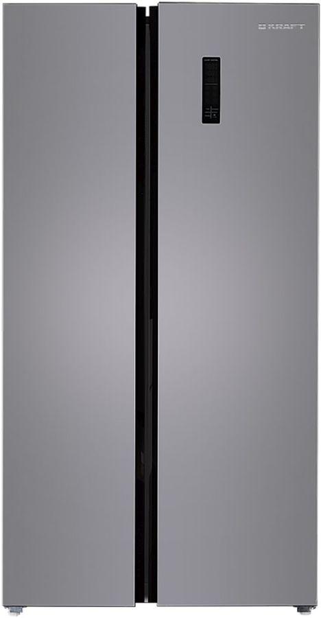 Холодильник KRAFT KF-MS2485X,  двухкамерный, нержавеющая сталь