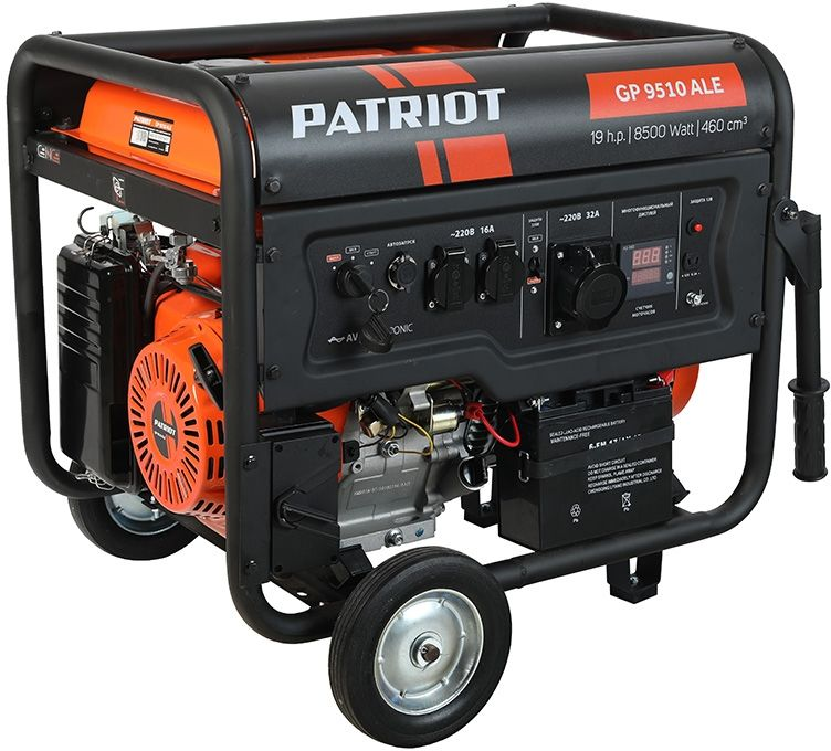 Бензиновый генератор PATRIOT GP 9510ALE,  220 В,  8.5кВт