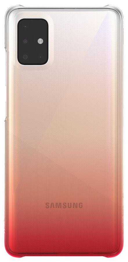 Чехол (клип-кейс) SAMSUNG WITS Gradation Hard Case, для Samsung Galaxy A51, красный [gp-fpa515wsbrr]