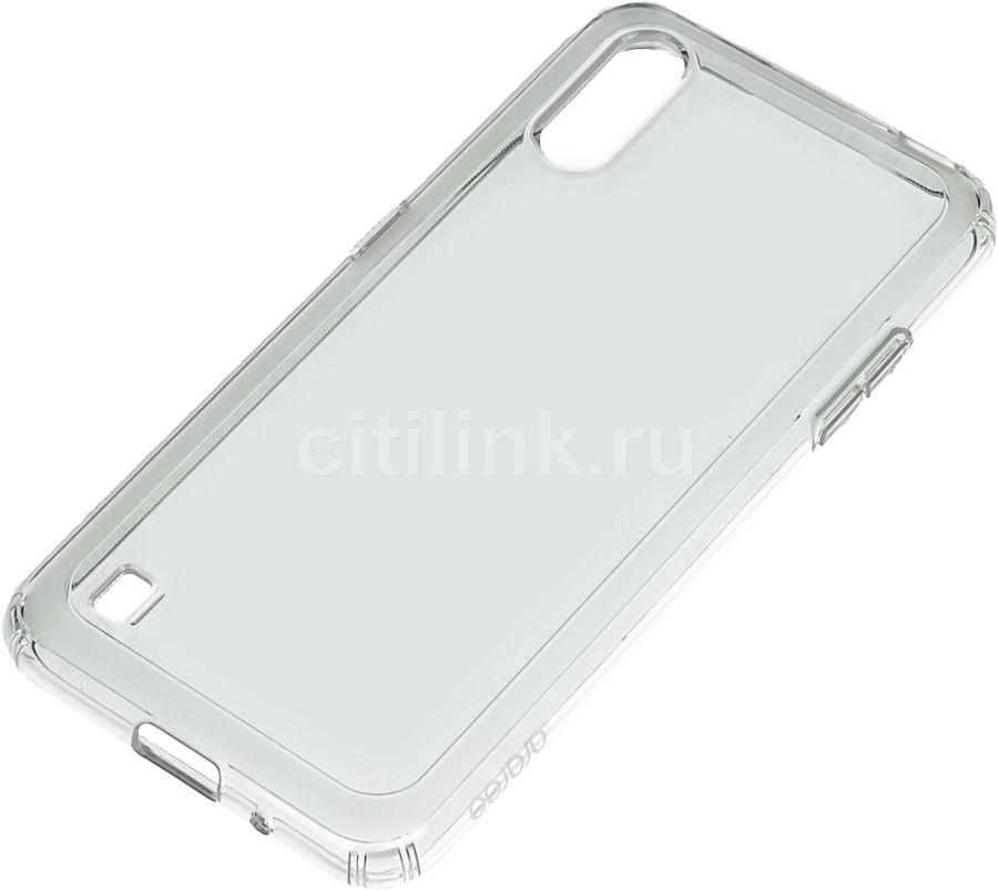 Чехол (клип-кейс) SAMSUNG araree A cover, для Samsung Galaxy A01, прозрачный [gp-fpa015kdatr]