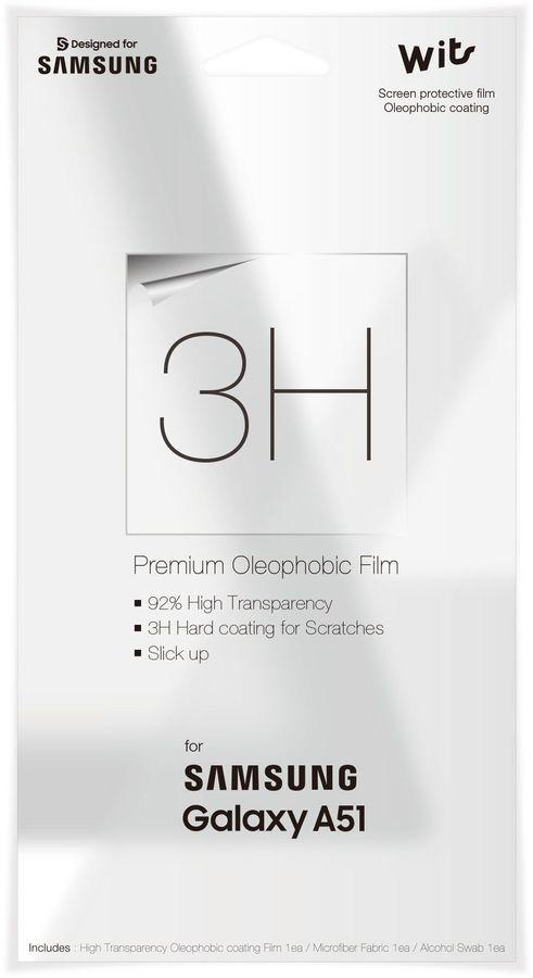Защитная пленка для экрана SAMSUNG WITS  для Samsung Galaxy A51,  прозрачная, 1 шт [gp-tfa515wsatr]