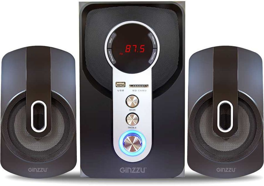 Колонки Bluetooth GINZZU GM-405,  2.1,  черный [gm-406]