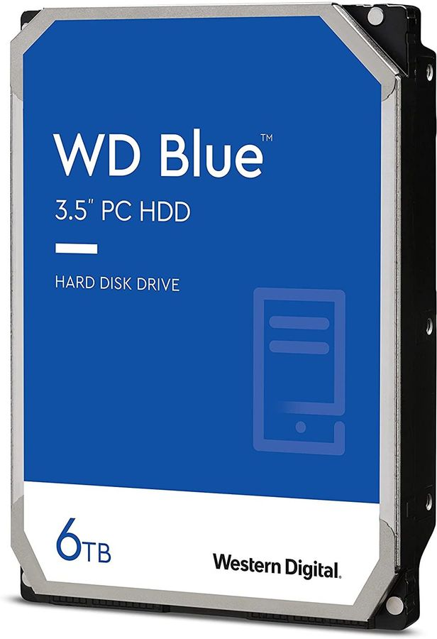 "Жесткий диск WD Blue WD60EZAZ,  6Тб,  HDD,  SATA III,  3.5"""