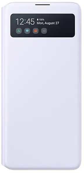 Чехол (флип-кейс) SAMSUNG S View Wallet Cover, для Samsung Galaxy Note 10 Lite, белый [ef-en770pwegru]