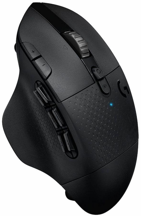 Мышь LOGITECH G604 LightSpeed Hero, игровая, оптическая, беспроводная, USB, черный [910-005649]
