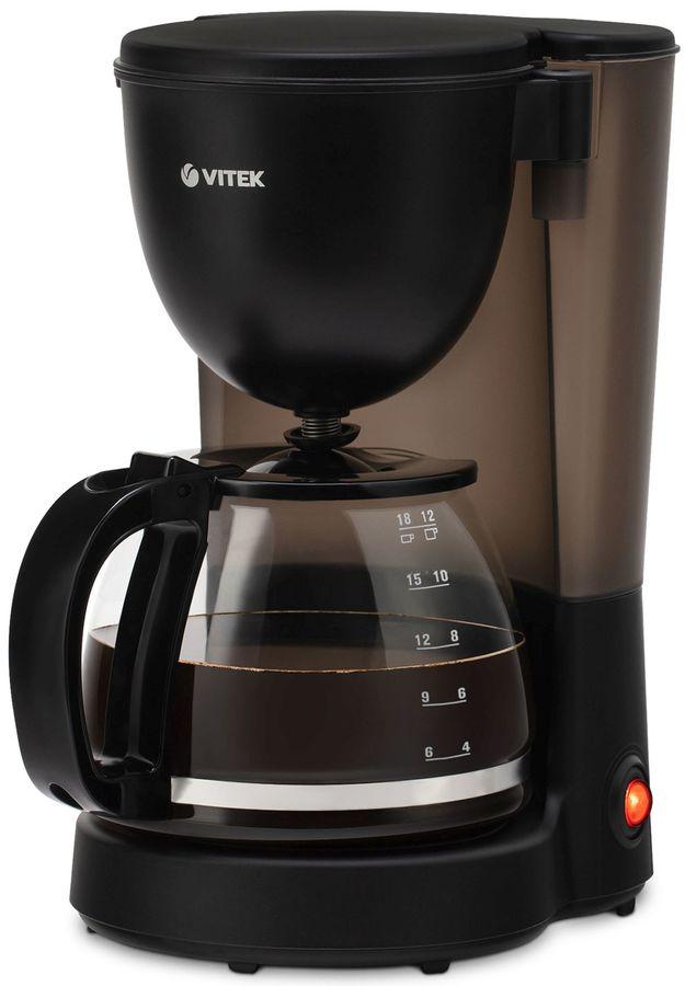 Кофеварка VITEK 1500-VT,  капельная,  черный  [1500-vt-02]